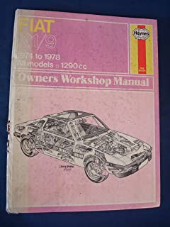 Fiat X1/9 Owners Workshop Manual