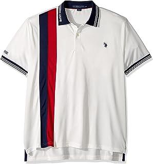 67243ea0e1eea U.S. Polo Assn. Men s Slim Fit Color Block Short Sleeve Poly Pique Polo  Shirt