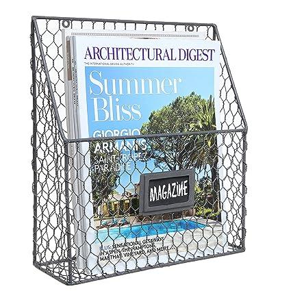 Famous Amazon.com: Black Chicken Wire Design Metal Storage Basket / Wall  JI22