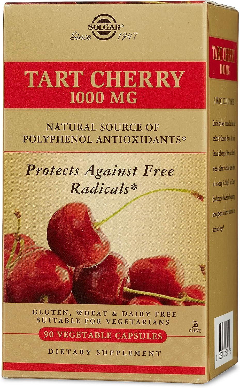 Solgar -Tart Cherry 1000 Mg, 90 Vegetable Capsules - 2 Pack