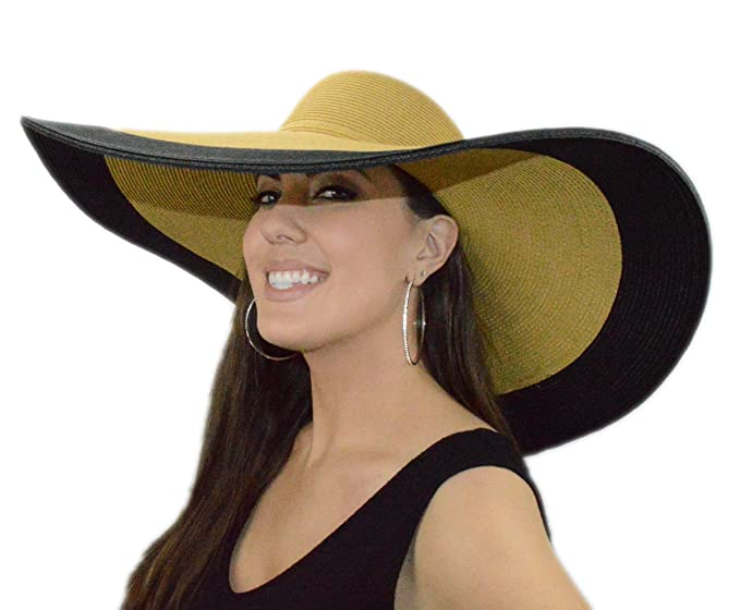 Amazon.com  RPI Tan   Black Big Sun Hat 19d9897059a