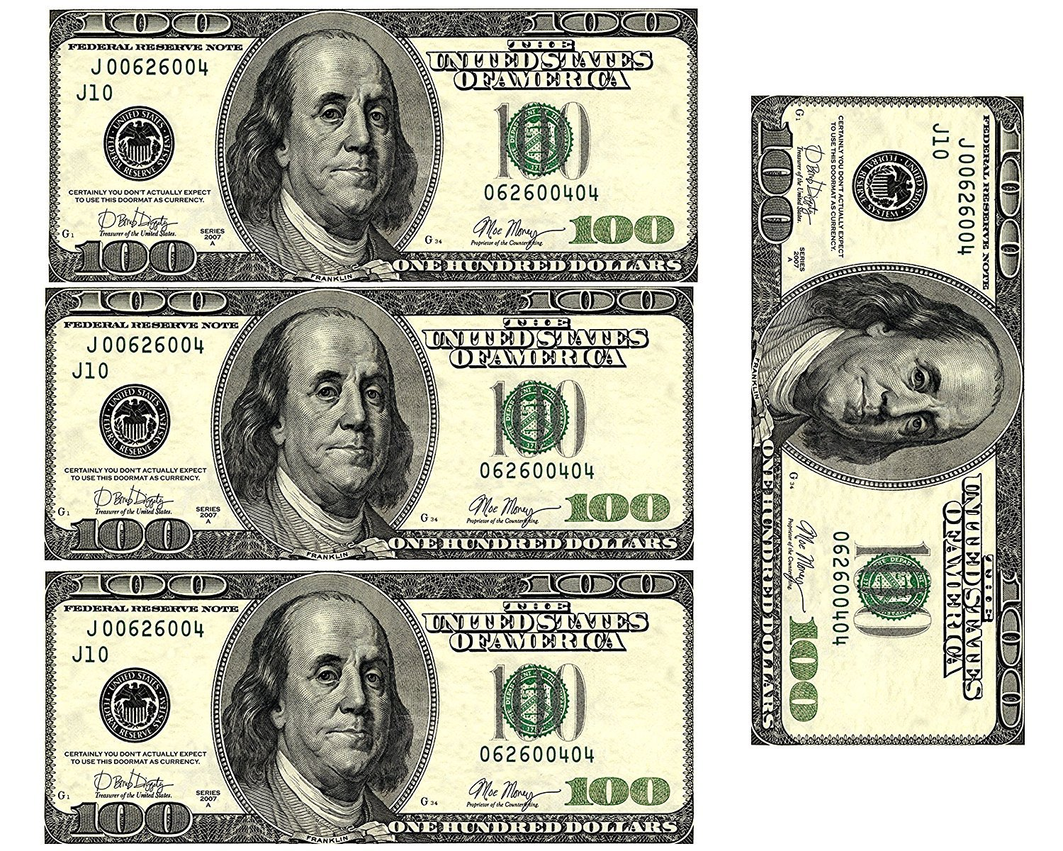 This is a picture of Légend Free Printable 100 Dollar Bill