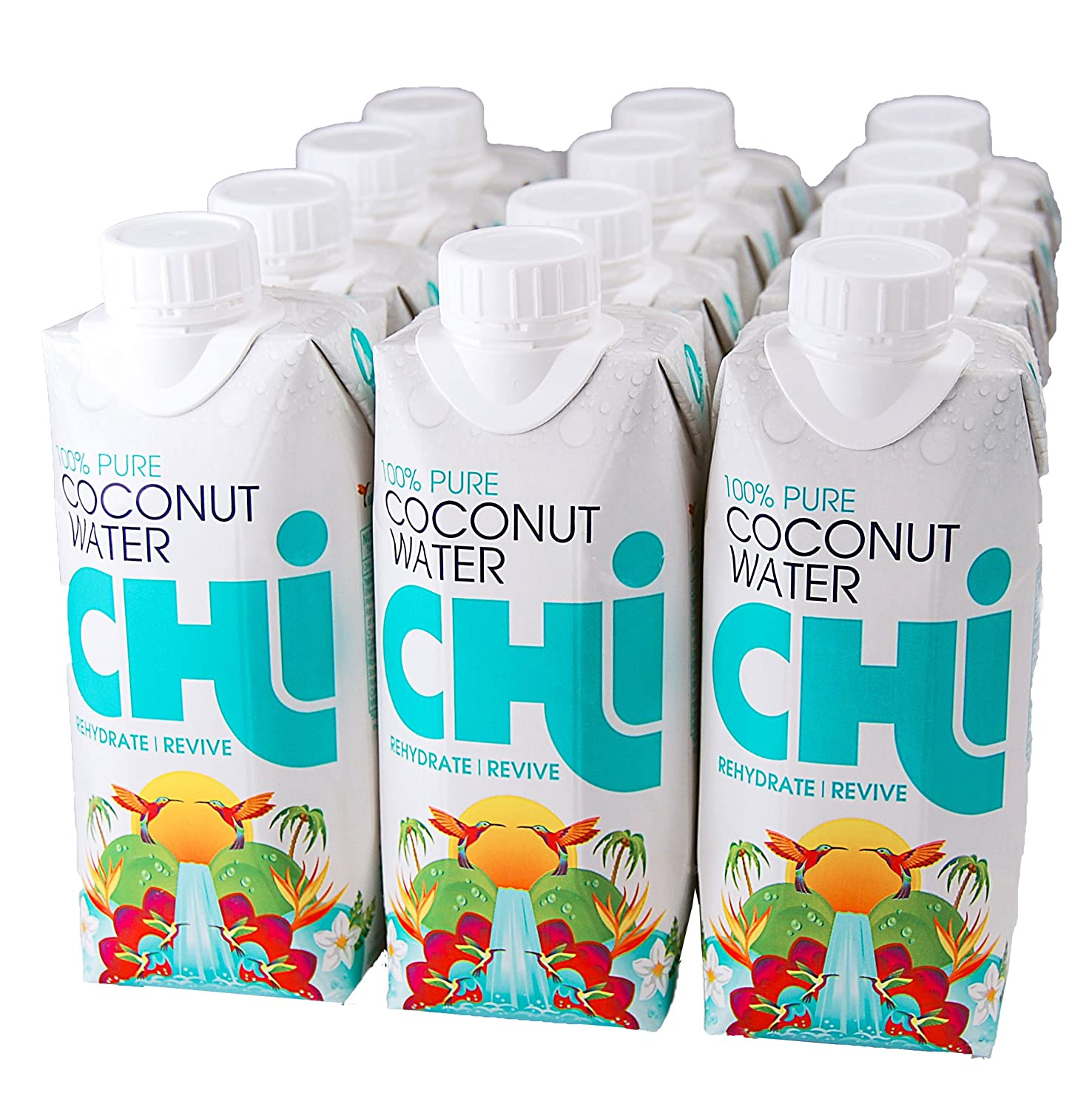 CHi 100% puro Coco Agua (Pure Coconut Water) 330 ml, 12 pack ...