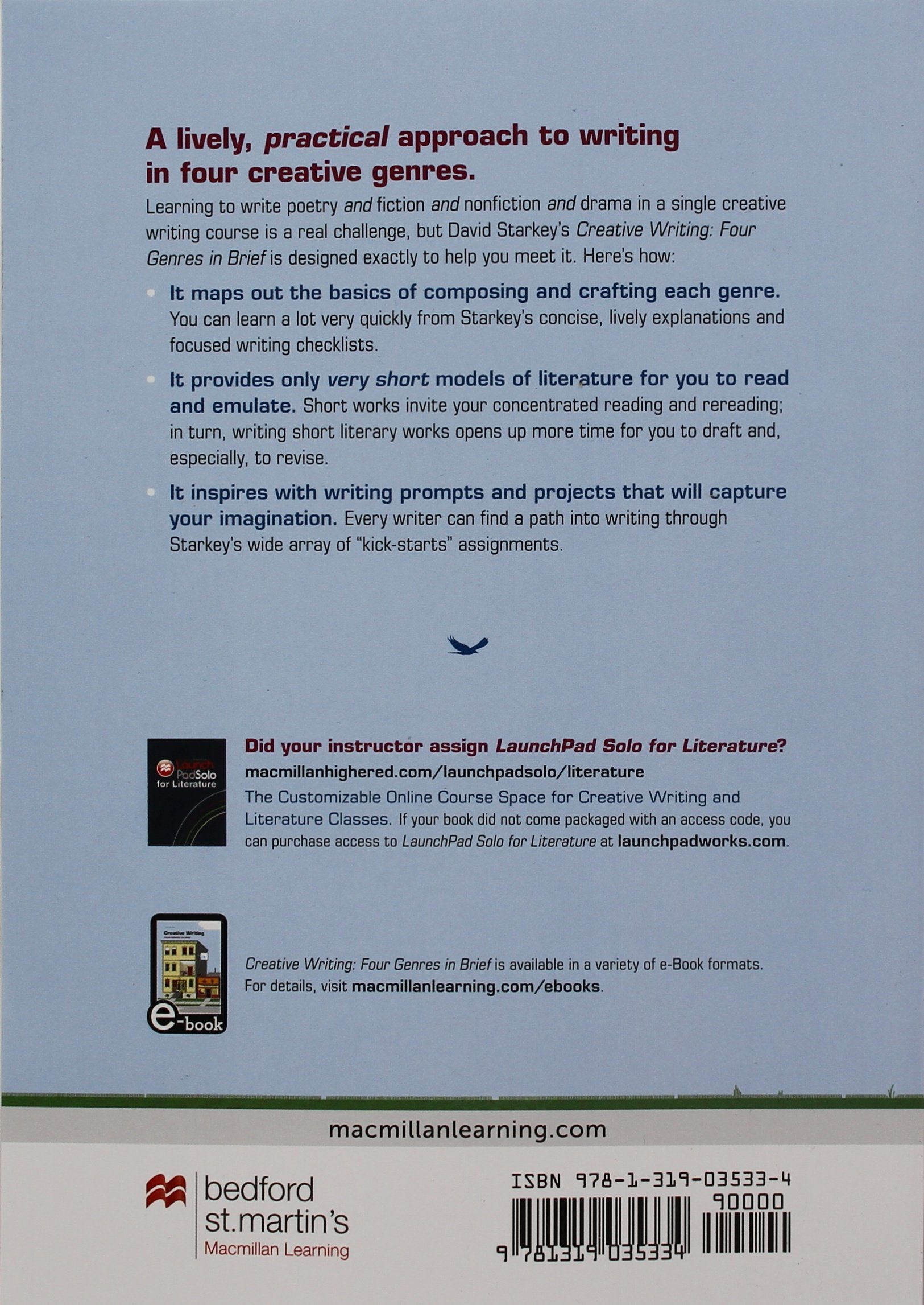 instructional design cover letter%0A Amazon com Creative Writing Four Genres in Brief