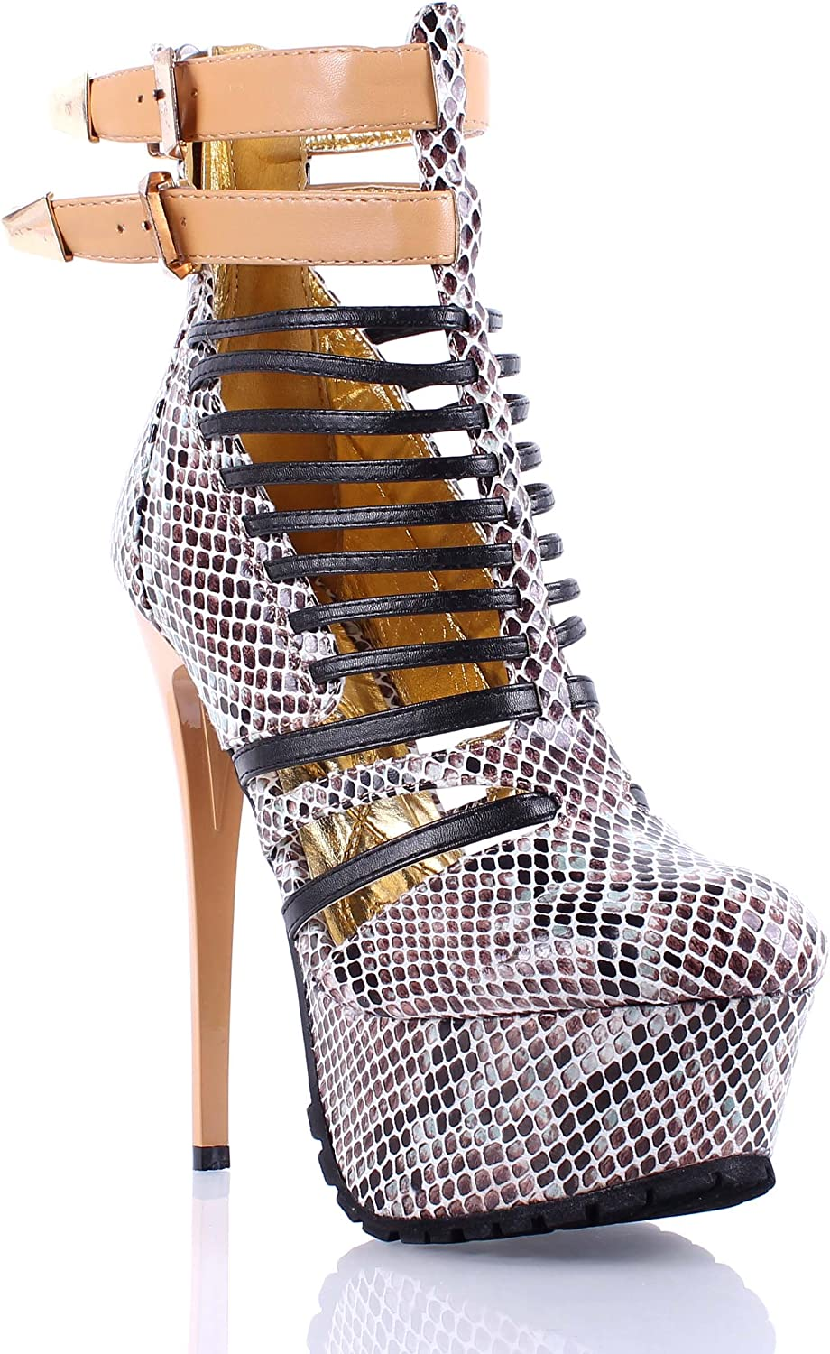 Stilettos Ankle/Low-Calf Strappy Lace