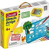 Quercetti 02645 - Gioco Stencil Design Farm Set per Disegnare