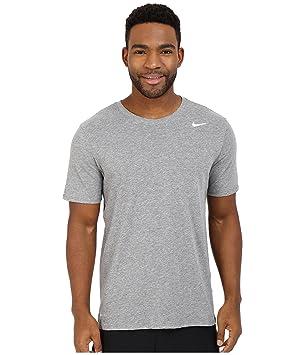 7d195d22cdd587 Nike Herren Dri-Fit Cotton Kurzarm 2.0 T-Shirt, Grau (Grau (Carbon ...