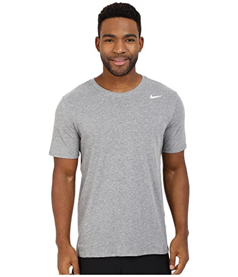 530e051f NIKE Men's Dri-FIT Cotton 2.0 Tee, Carbon Heather/Carbon Heather/White