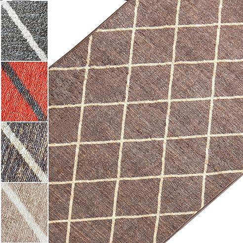 Teppichläufer Cosenza | Rauten Muster im Retro Look | viele Größen ...