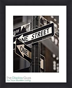 "The Display Guys – Square Profile Picture Frame – Square Picture Frame - 16"" x 20"" Wooden Picture Frame with Tempered Glass"