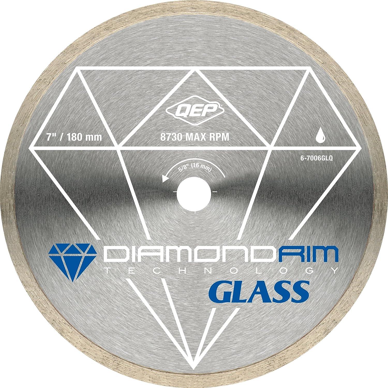 5. QEP 6-7006GLQ 7-Inch Continuous Rim Glass Tile Diamond Blade