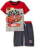 Disney Boys' Little Cars Crew Neck Short Set, red 4