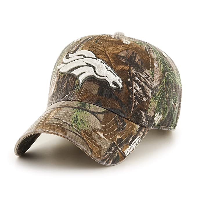e59bf2e7d222d8 '47 NFL Denver Broncos Realtree Ice Clean Up Adjustable Hat, One Size,  Realtree