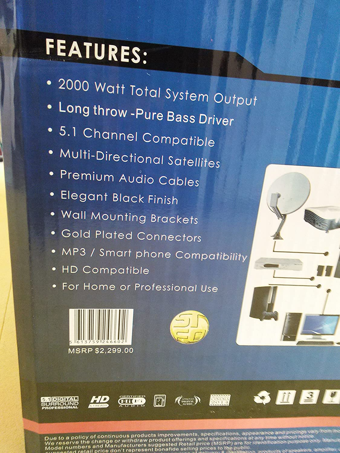 Amazon.com: Home Theater Professional System OMNI Phase HDN-7743 ...