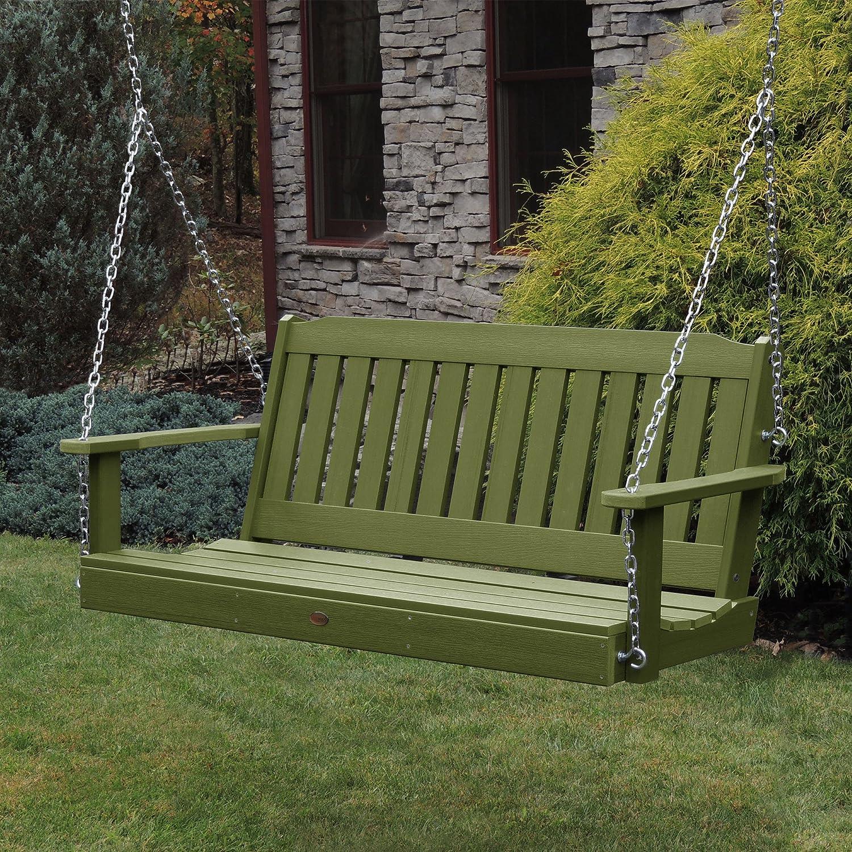 highwood AD-PORL2-SGE Lehigh Porch Swing, 4 Feet, Dried Sage