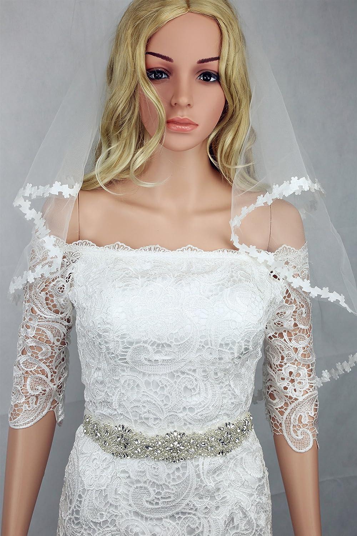 Handmade crystal bridal belt rhinestone pearl luxury wedding dress - Amazon Com Bridal Dress Sash Glass Beaded Bridal Sash Unique White Ivory Satin Ribbons Wedding Gown Accessories Gown Crystal Bridal Dress Sash Arts