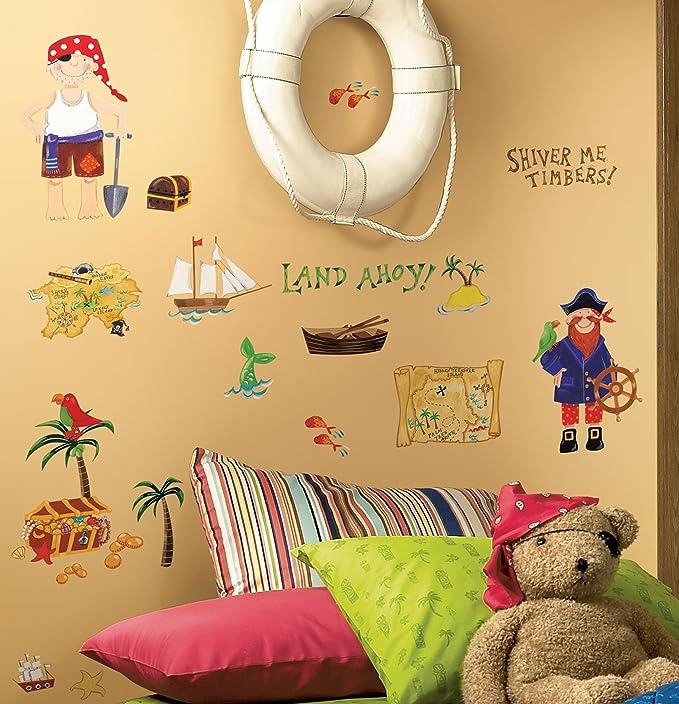 RoomMates RMK1195SCS Treasure Hunt Peel & Stick Wall Decals - Wall ...