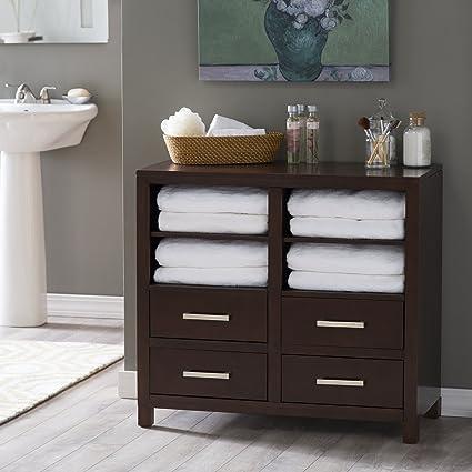 Amazon Com Belham Living Longbourn Bathroom Floor Cabinet