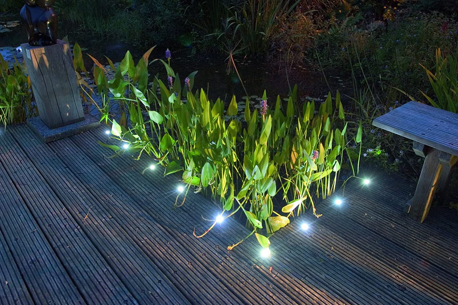 8 white led decking lights 12v electric low voltage garden deck 8 white led decking lights 12v electric low voltage garden deck lights amazon lighting aloadofball Gallery