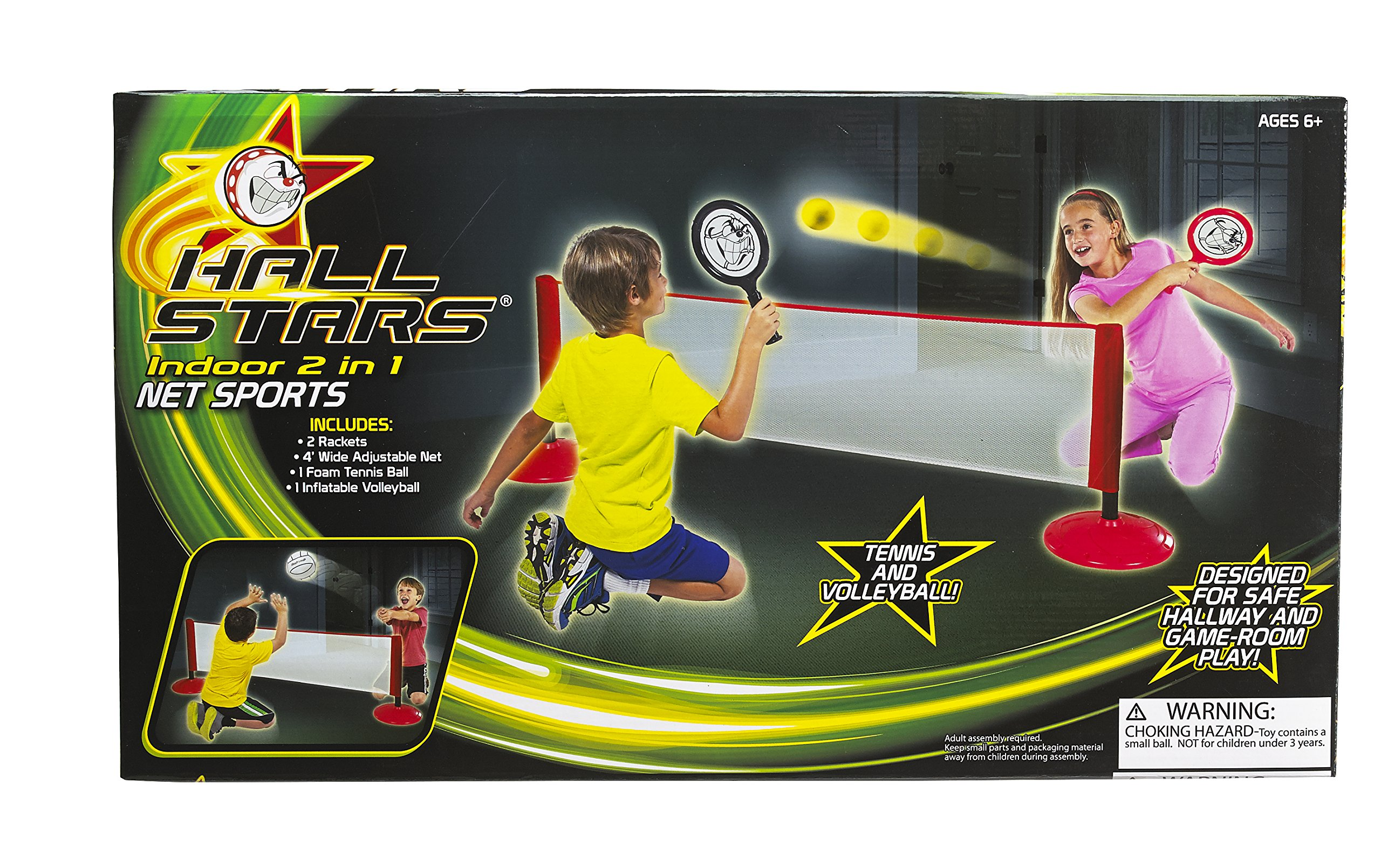 Hall Stars Volleyball and Tennis 2-in-1 Net Sports Play Set