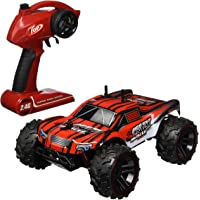 Velocity Toys Buggy Crazy Muscle Remote Control RC Truck Truggy 2.4 GHz Pro System 1:16 Scale Size RTR w/ Working Suspension, Spring Shock Absorbers (Colors May Vary)