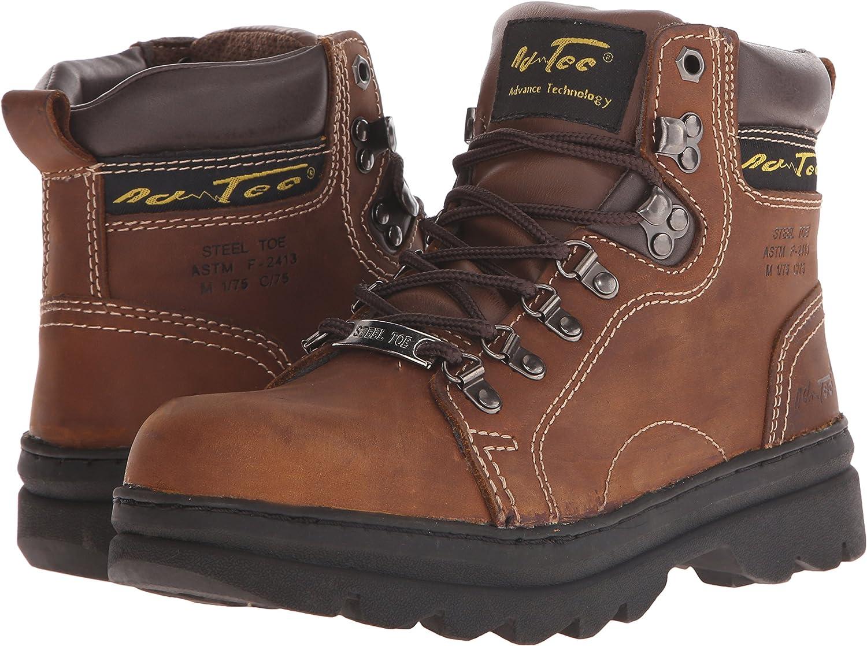 Adtec Womens 6 Steel Toe Work Boot Brown Work Boot