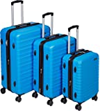 AmazonBasics Valise Rigide à Roulettes Pivotantes,  Bleu clair, Lot de 3valises (55 cm, 68 cm, 78 cm)