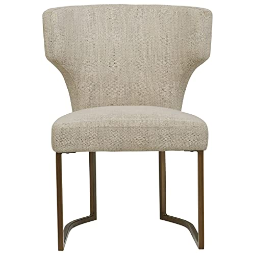 Rivet Dunford Modern Kitchen Dining Chair, 33 Inch Height, Ivory