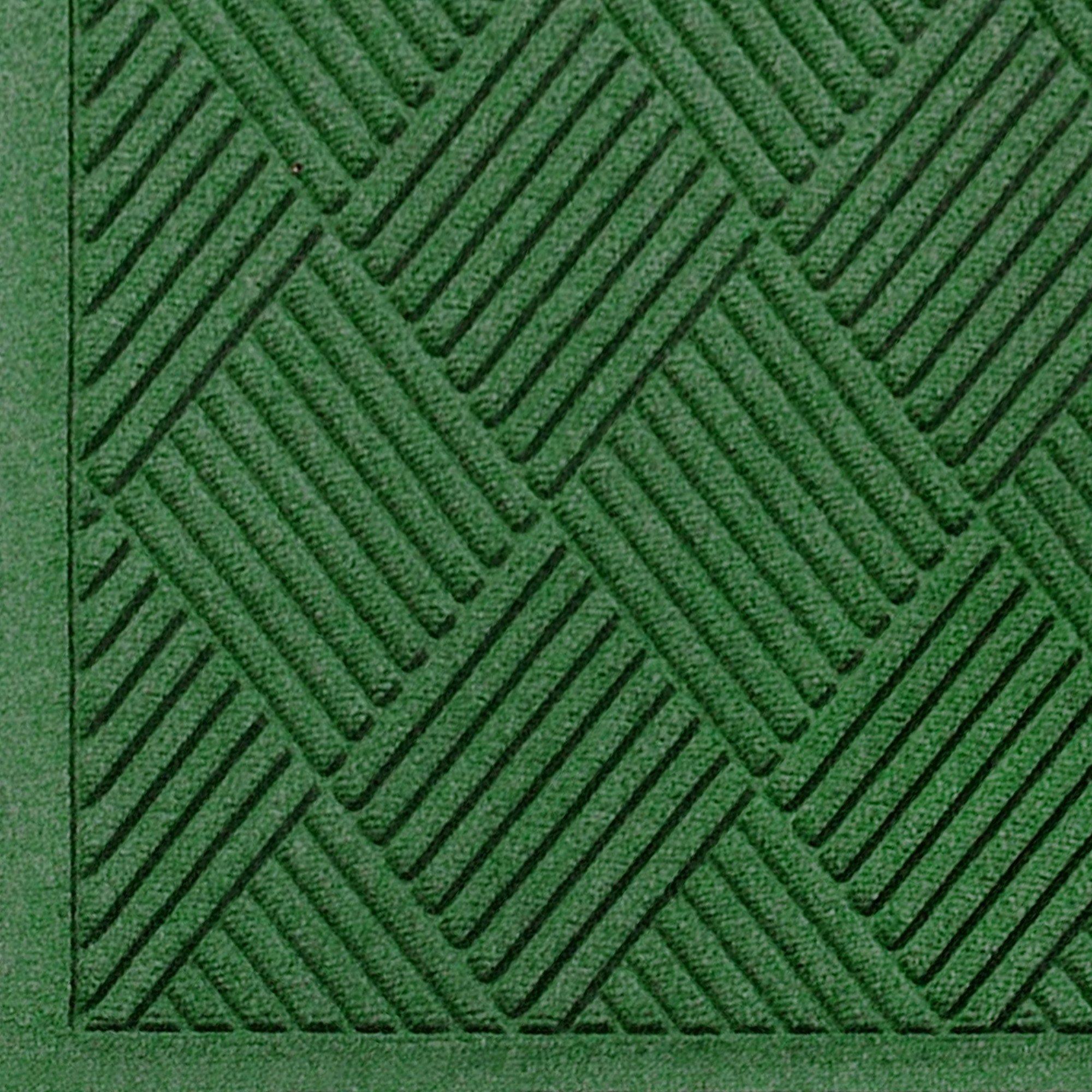 Andersen 221 Waterhog Fashion Diamond Polypropylene Fiber Entrance Indoor Floor Mat, SBR Rubber Backing, 12.2' Length x 4' Width, 1/4'' Thick, Light Green by The Andersen Company