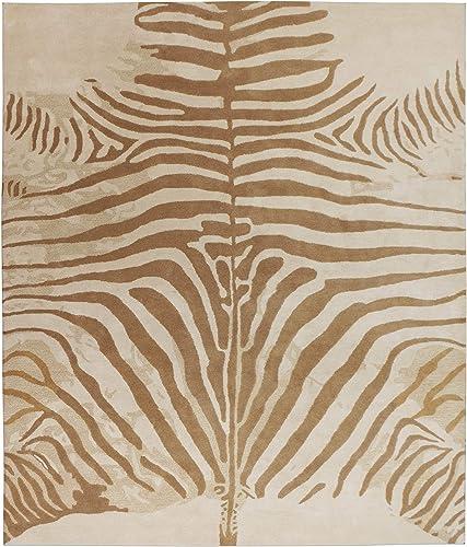 Wallard Design Zebra Animal Neutral Persian Handmade 100 Wool Rugs Carpets 9'x12'