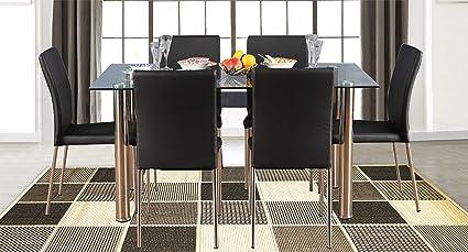 HomeTown Vento Metal 6 Seater Dining Set