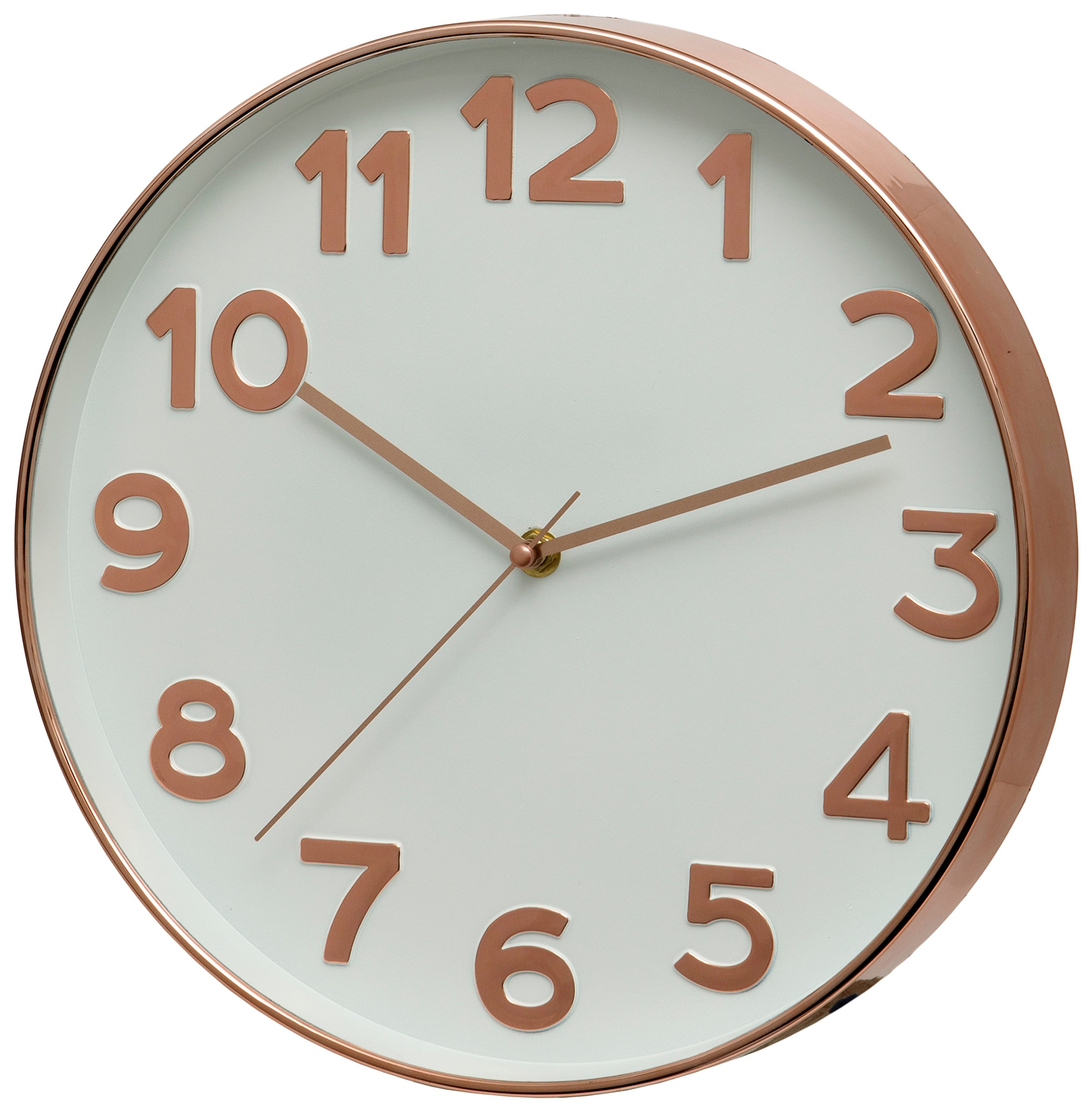 Unity Moffat Raised Numeral Gold Silent Sweep Wall Clock