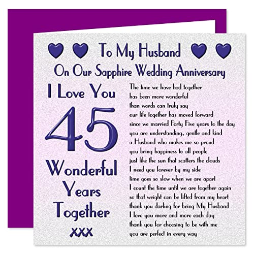 Wedding Anniversary Quotes For Husband: My Husband 45th Wedding Anniversary Gift Set