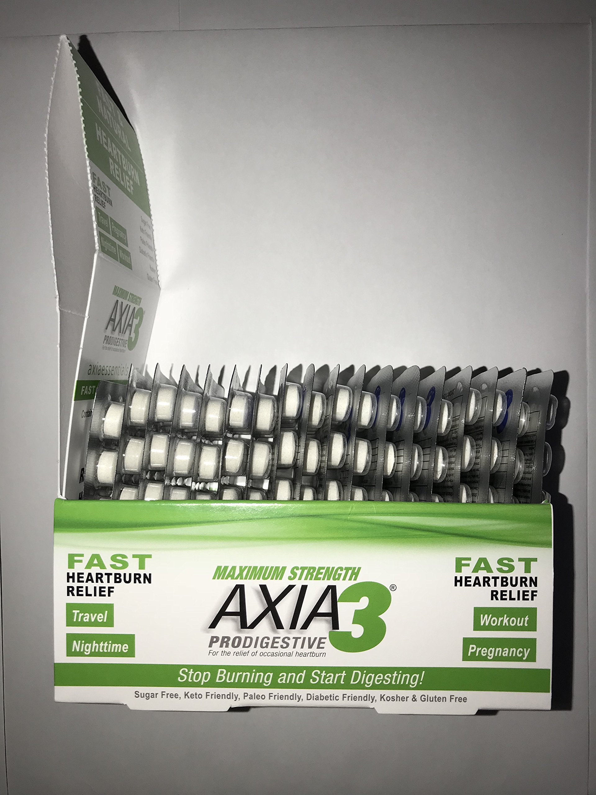 Axia Essentials Max Strength Prodigestive Heartburn Relief, White, 270 Count by ProDigestive