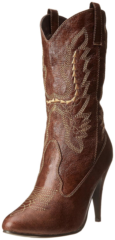 Ellie Shoes Women's 418-Cowgirl Western Boot B002LKTWPG 9 B(M) US|Brown