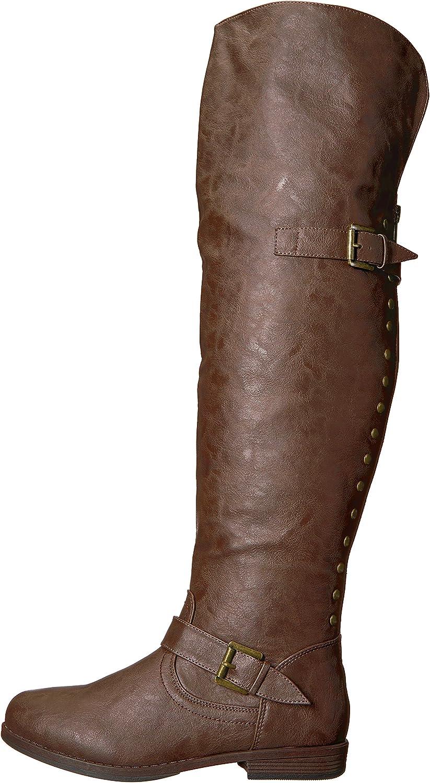 B013VP6H9I Brinley Co Women\'s Sugar Over The Knee Boot 81F0qL2jsWL