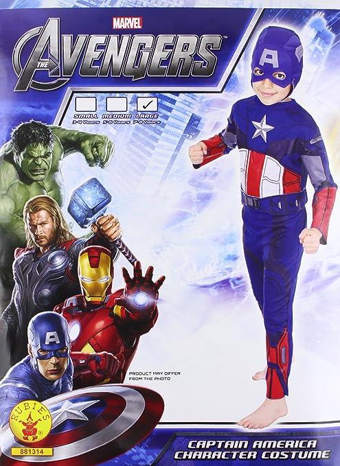 Rubies`s - Disfraz infantil de Capitán America clásico (881314-L ...