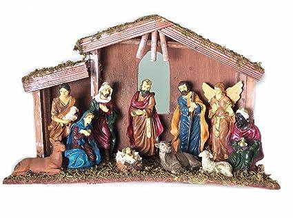 6f73f8d48e3 Amazon.com  Nativity Set 11pcs New 12