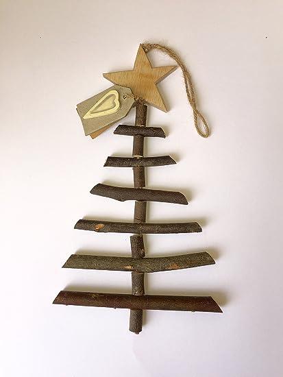 East Of India Large Twig Handmade Wooden Christmas Tree Amazon Co