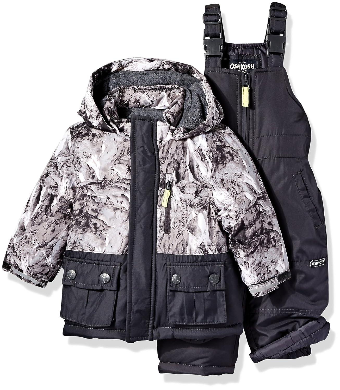 Osh Kosh Baby Boys' Infant Heavyweight 2 Pc Printed Snowsuit Grey 12M B2166S28
