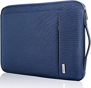 Landici 360 Protective Laptop Case Sleeve 13 13.3 Inch,Slim Computer Bag Cover with Handle Compatible with 2018-2021 MacBook Air/Pro M1,13.5 Surface Book 3,Chromebook,XPS 13,Jumper 13.3 Notebook-Blue