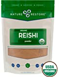 Nature Restore Organic Reishi Mushroom Powder, Non-GMO (8 ounces)