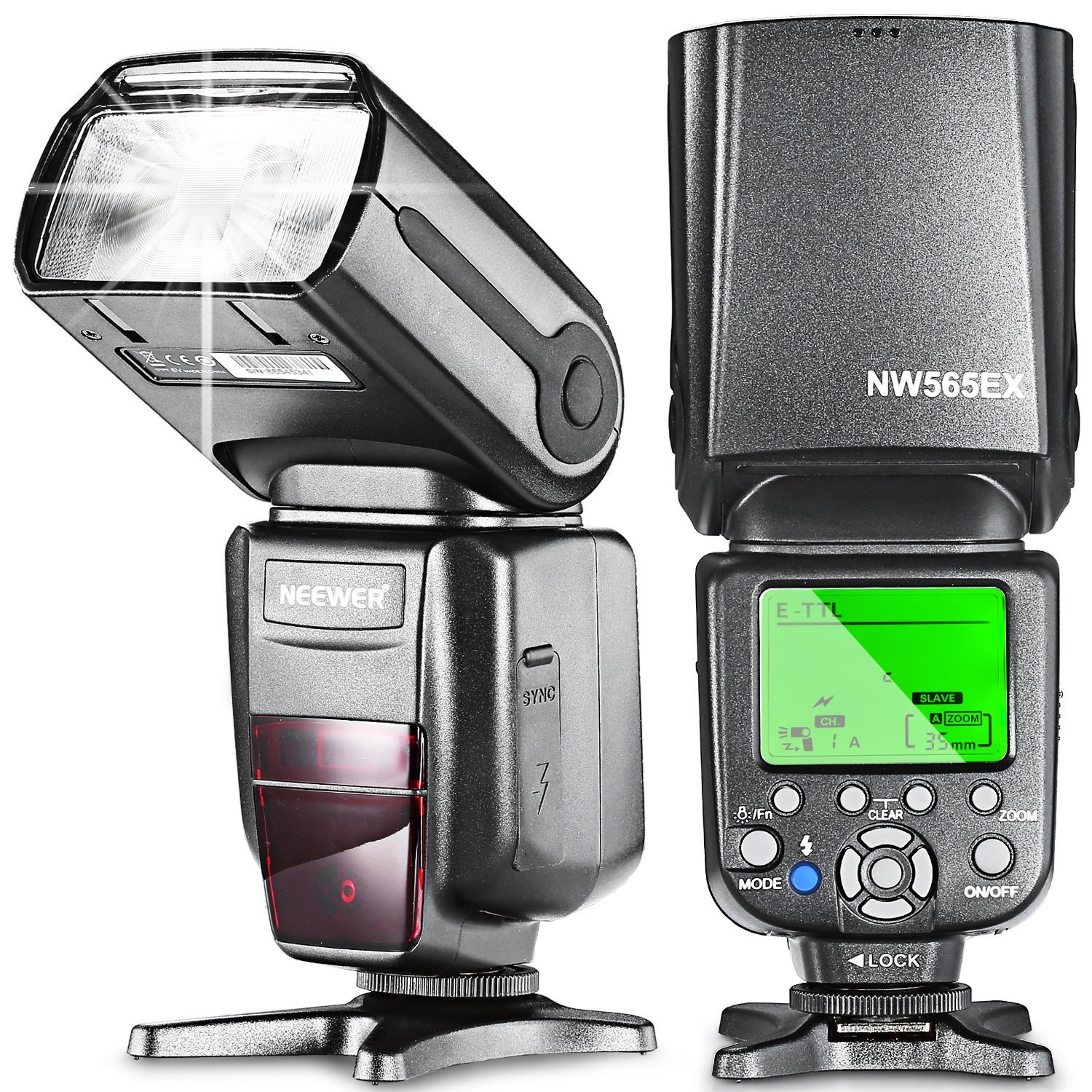 Neewer® NW-565 EXC E-TTL Slave Speedlite Flashlight with Flash Diffuser for Canon 5D II 7D, 30D, 40D, 50D, EOS 300D / EOS Digital Rebel, EOS 350D / EOS Kiss Digital N, EOS 400D / Digital Rebel Xti, EOS 1000D / EOS Rebel XS, EOS 500D / Digital Rebel T1i