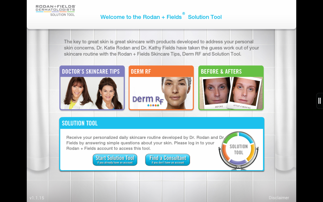 Rodan + Fields Solution Tool