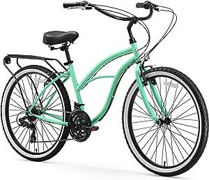 sixthreezero Around the Block Women's Cruiser Bike with Rear Rack (24-Inch, 26-Inch, and eBike)