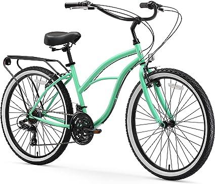 "Beach Cruiser Bike 26/"" Beach Cruiser Bicycle Cycling Mint Green Women Sturdy"