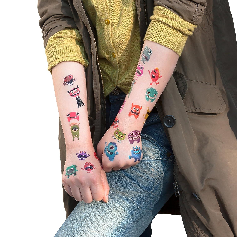 Oblique-Unique/® 48/divertente disegno mostro Tattoo s