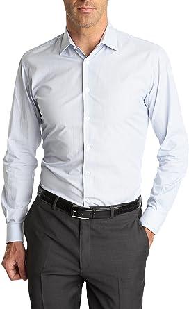 Caramelo, Camisa Vestir Regular Cuello Italiano, Hombre ...