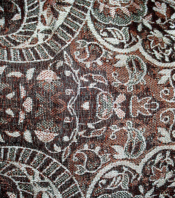 Lakkar Haveli Indian Pashmina Silk Men/'s Kurta Shirt Loose Fit Hand Loom Multi Color Plus Size Paisley Print