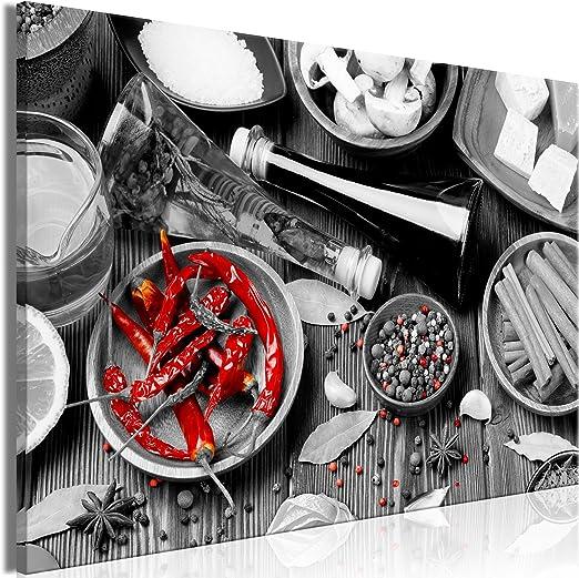 Kunstdruck Leinwand aus Vlies  Wanddeko Bild Bilder Wandbild XXL Küche Gewürze